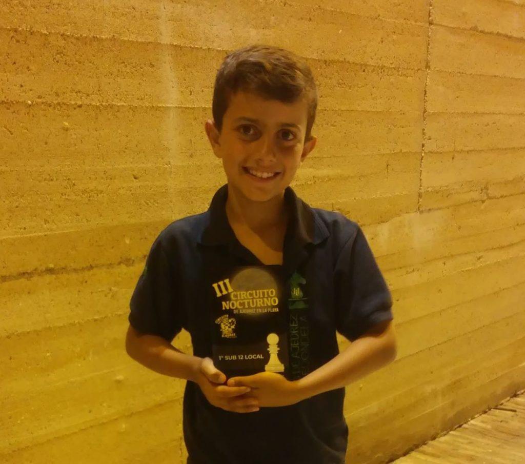 Kevin Irala, Campeón sub 12 local del «V Abierto Nocturno Playas de Cartaya»