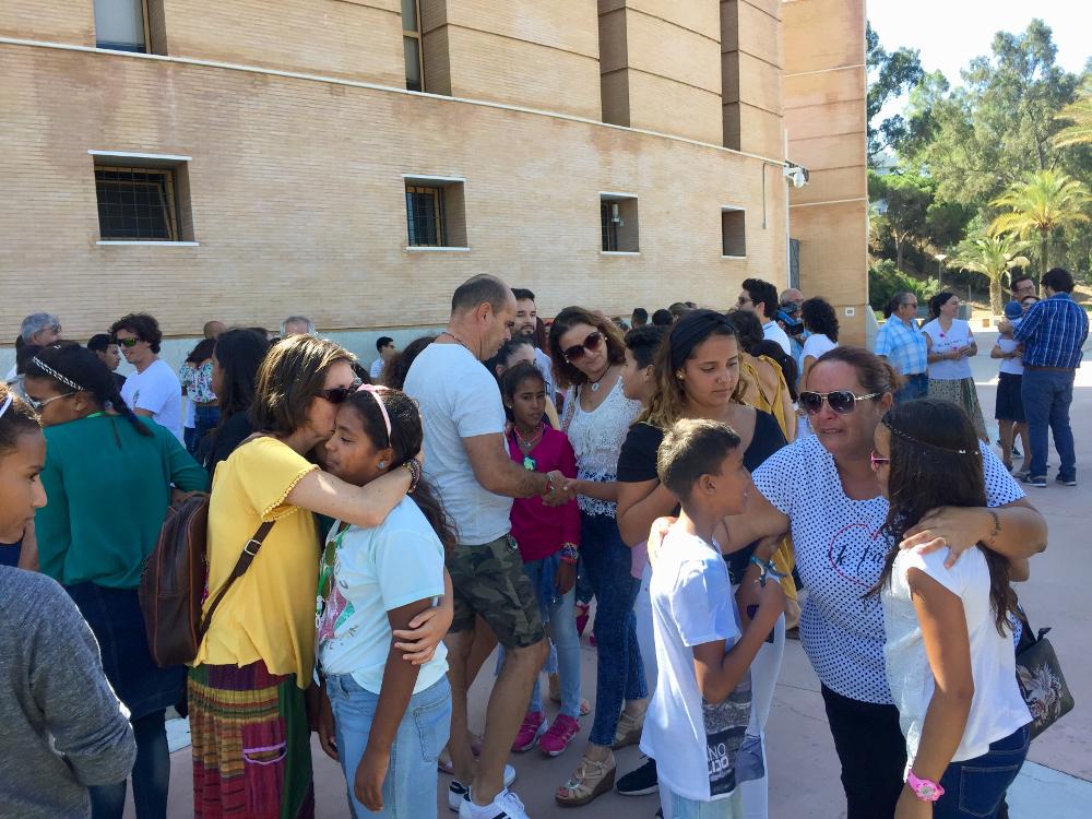 Emotiva despedida a los niños saharauis que han pasado sus Vacaciones en Paz en la provincia de Huelva