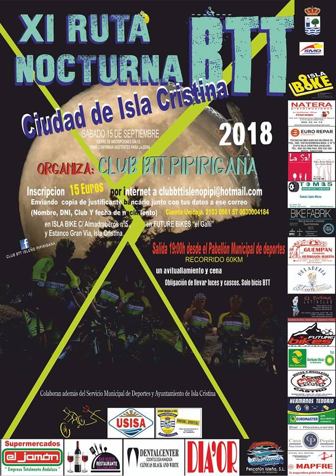 En Marcha la XI Ruta Nocturna BTT Ciudad de Isla Cristina