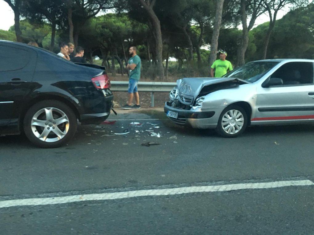 Accidente múltiple en Isla Cristina