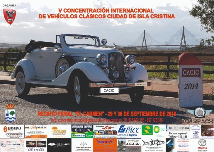 """Programación «V Concentración Internacional de Vehículos Clásicos Ciudad de Isla Cristina"""""""