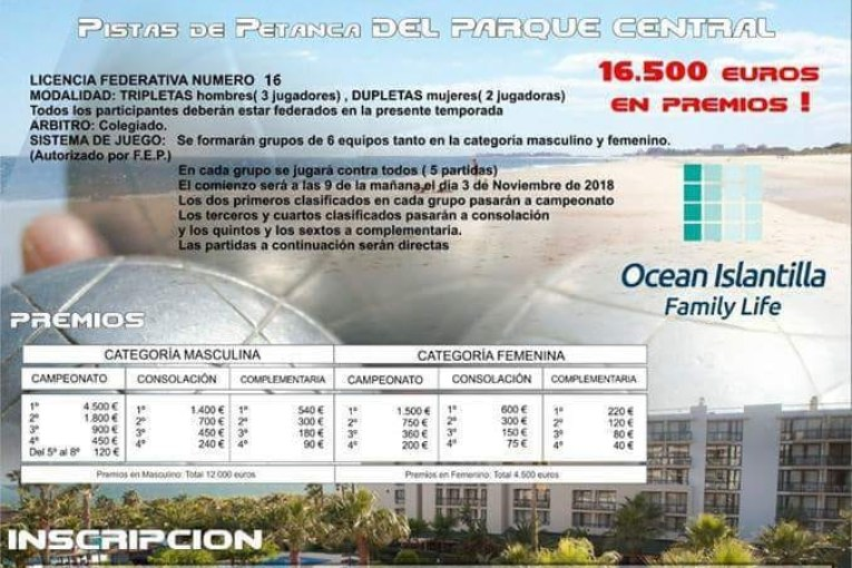 """Isla Cristina acoge el """"VI Open Internacional de Petanca"""""""