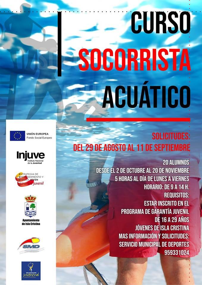 Curso de Socorrista Acuático en Isla Cristina