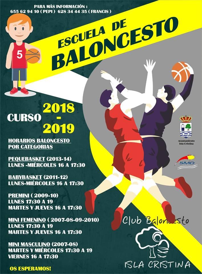 En Marcha la Escuela de Baloncesto del CB Isla Cristina