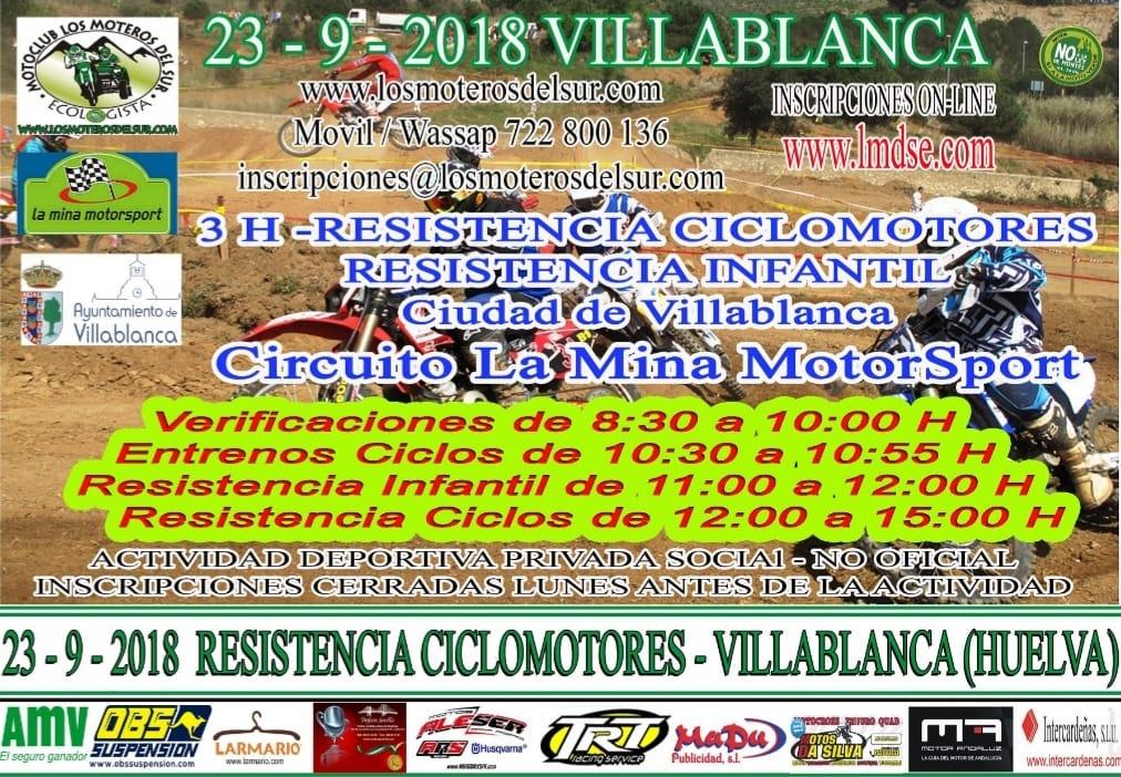 Villablanca alberga las 3 Horas de Resistencia de Ciclomotores