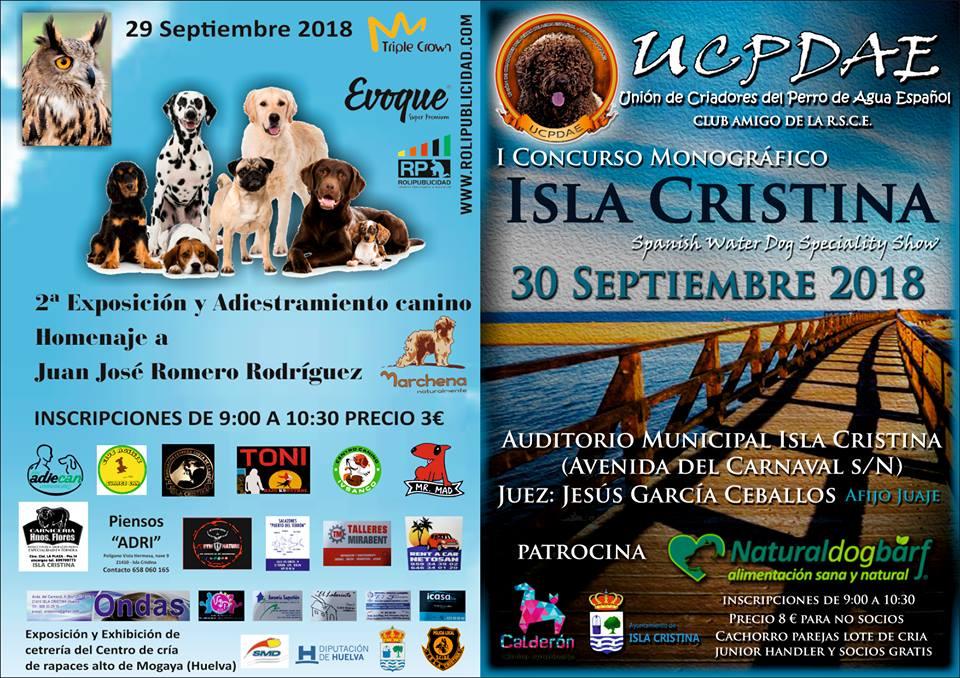 Exposición y Adiestramiento Canino este fin de semana en Isla Cristina