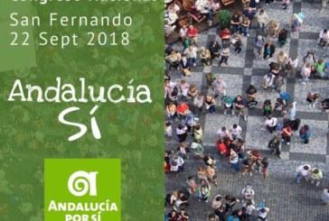 Andalucía Por Sí (AxSí) celebrará el sábado 22 de septiembre su Congreso Nacional en San Fernando