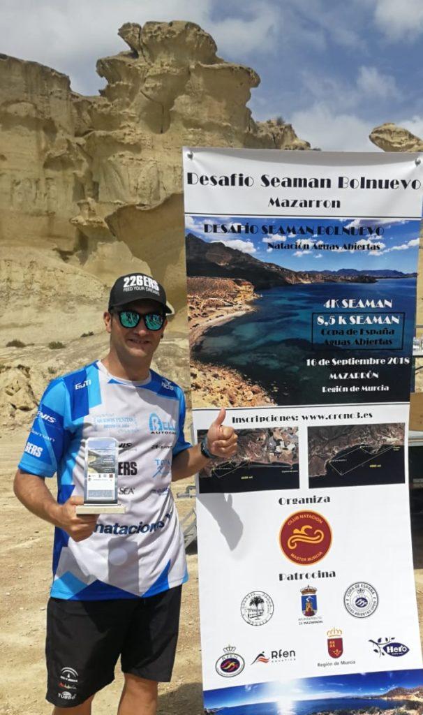 Rubén Gutiérrez brilla en la etapa de Mazarrón de la Copa de España de Aguas Abiertas