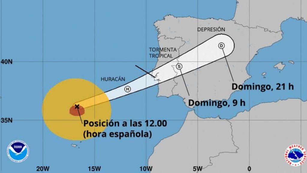 El huracán Leslie llega a Portugal con intensas lluvias