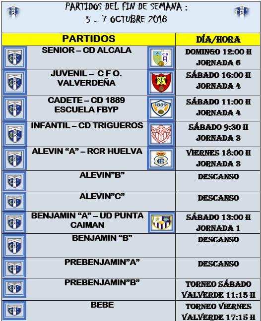 Partidos Fin de Semana Isla Cristina FC