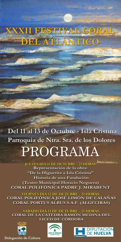 Programa del XXXII Festival Coral del Atlántico