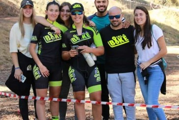 """Marta Núñez y Miriam Palacio, 1ª clasificadas del sexto """"Rally BTT Coto de Montemayor"""" en Moguer"""