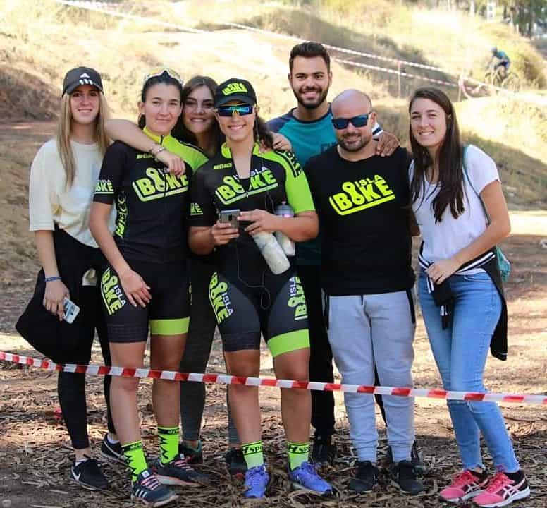 Marta Núñez y Miriam Palacio, 1ª clasificadas del sexto «Rally BTT Coto de Montemayor» en Moguer