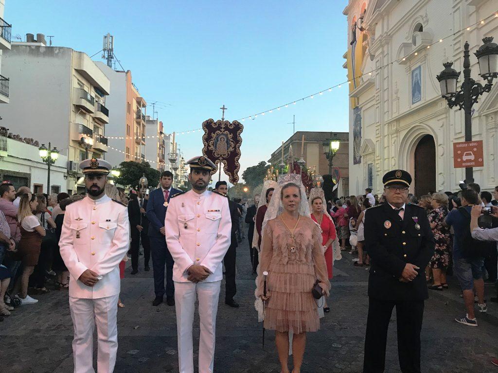 La Fiestas Patronales en Isla Cristina culmina con la procesión de la Virgen