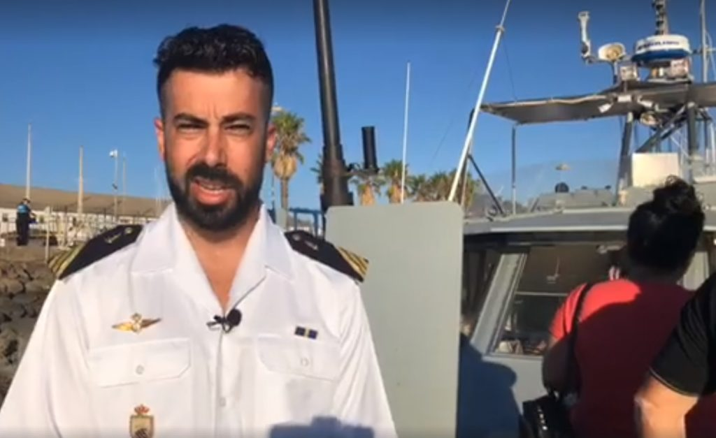 La patrullera de la Armada Española atracada en Isla Cristina recibe medio millar de visitas