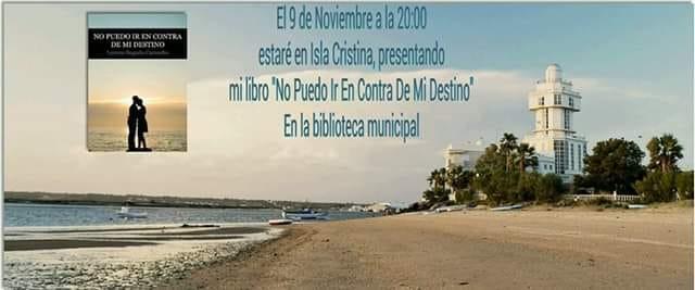 Lorena Bogado presenta en Isla Cristina «No Puedo Ir En Contra De Mi Destino»