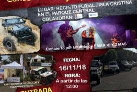 Concentración y Exposición de vehículos 4X4 en Isla Cristina